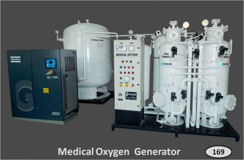 Medical Oxygen Generator with Air Compressor & Storage Tank